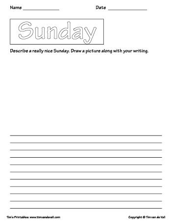sunday printable