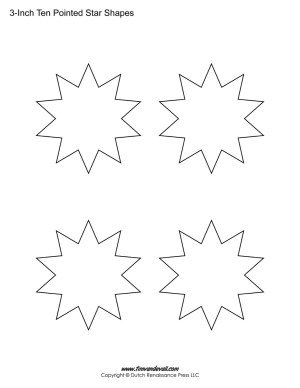 10 pointed stars