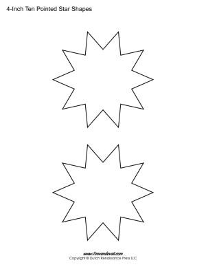 ten sided stars