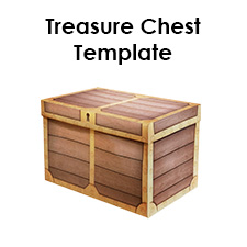 photograph regarding Treasure Chest Template Printable named Cardboard treasure upper body template