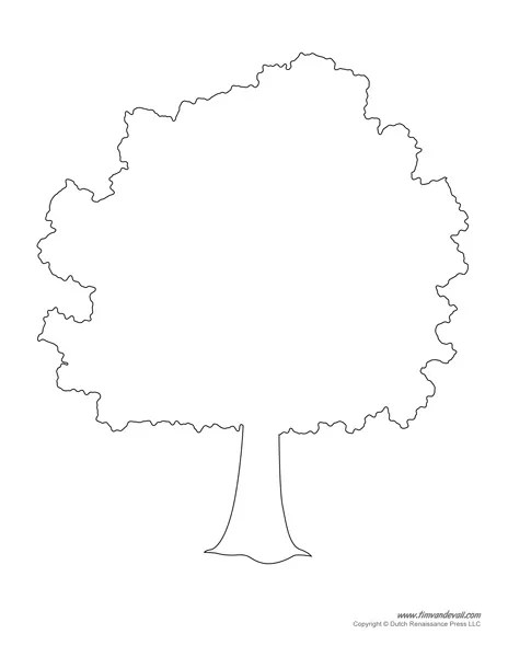 Tree Template Printable