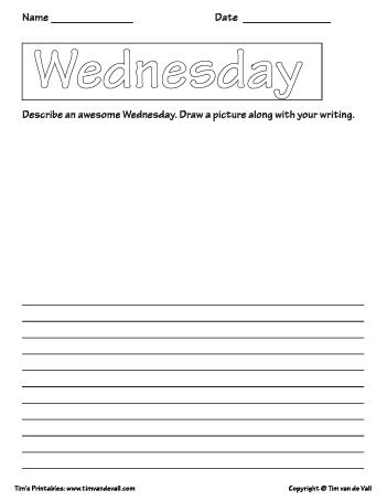 Wednesday template