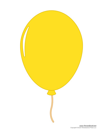 photograph relating to Balloon Templates Printable titled Balloon templates printables
