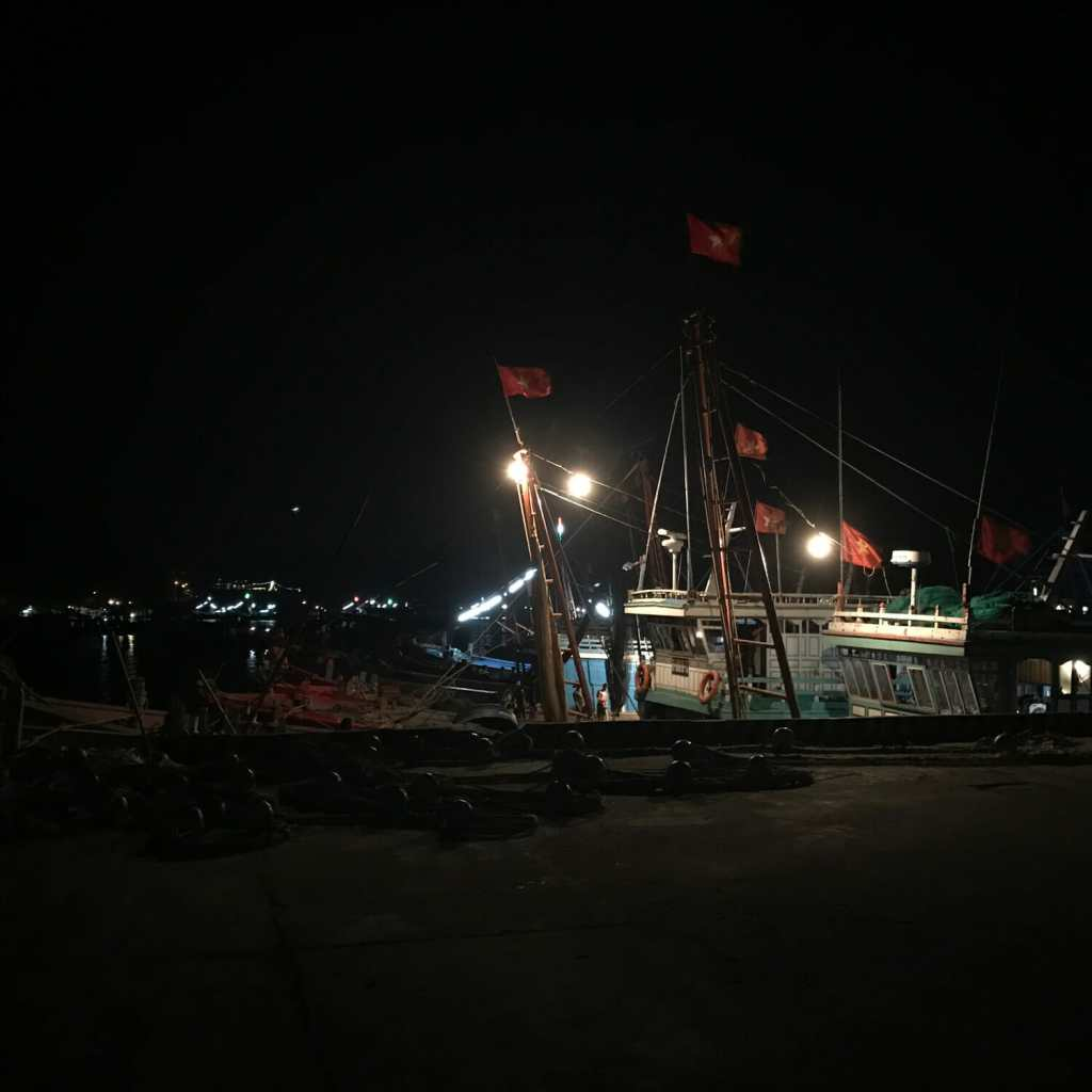 Boot in de haven