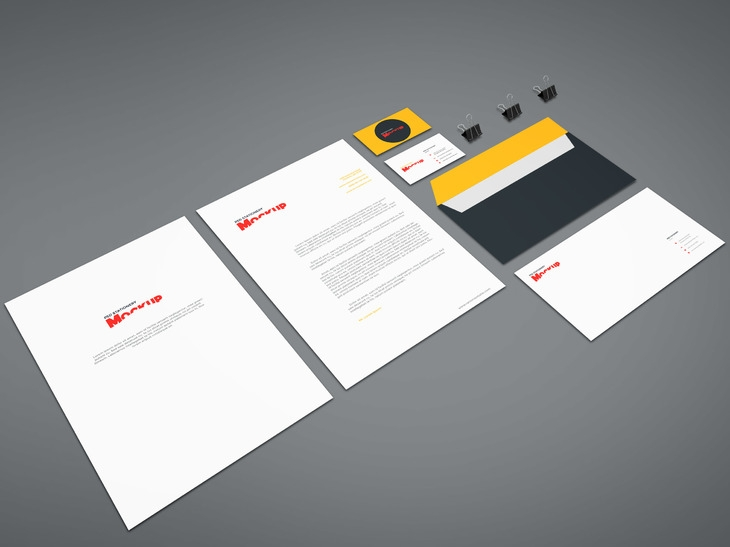 15 free branding mockups psd with stationery items super dev resources