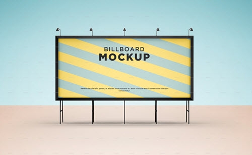 50 premium and free horizontal billboard mockups in psd free psd