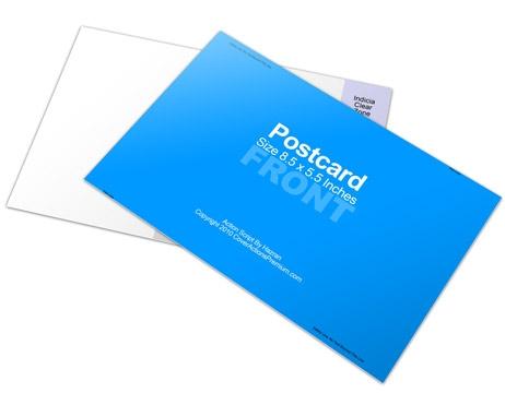 85 x 55 postcard mockup cover actions premium mockup psd template