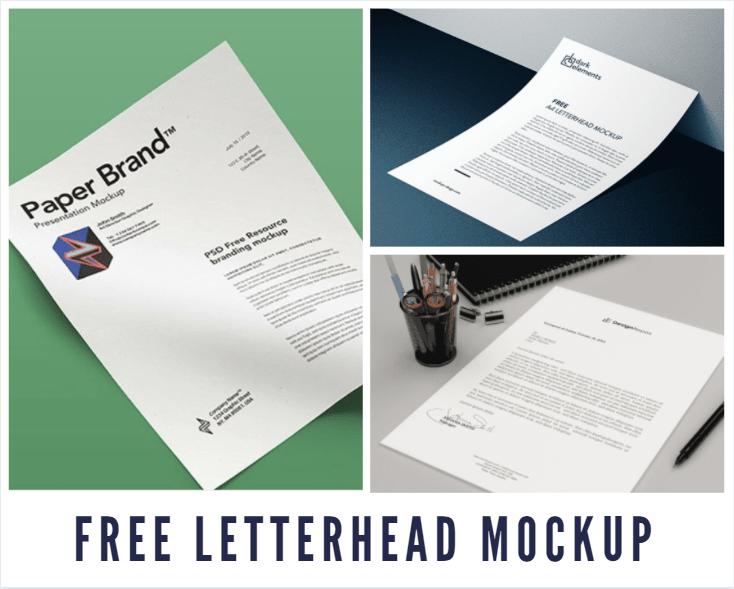 Free Letterhead Mockup