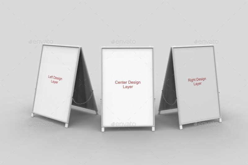 a board sign mockups jorgerivero graphicriver