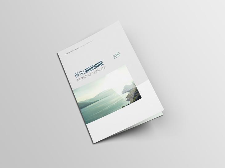 a4 bifold brochure mockup free psd file
