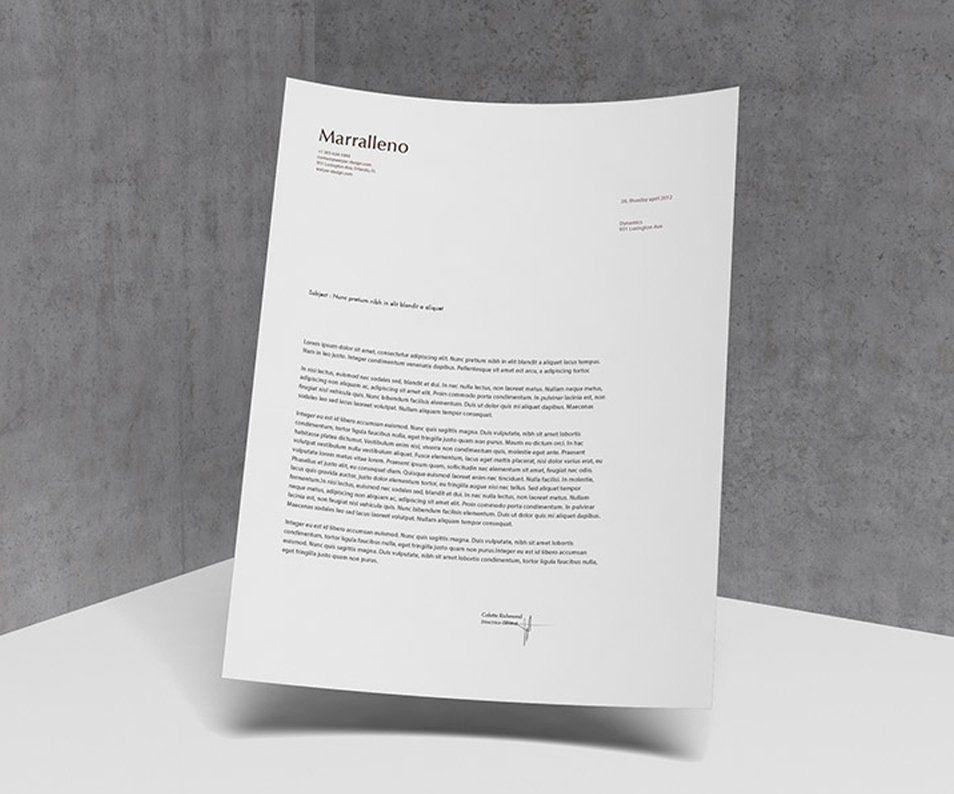 a4 letterhead mockup psd design mockup center