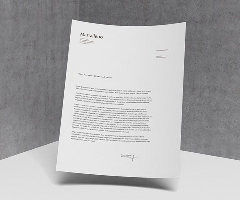a4 letterhead mockup psd design mockup center
