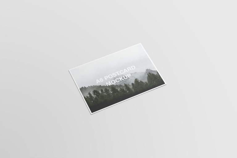 a6 postcard and envelope mockups on behance