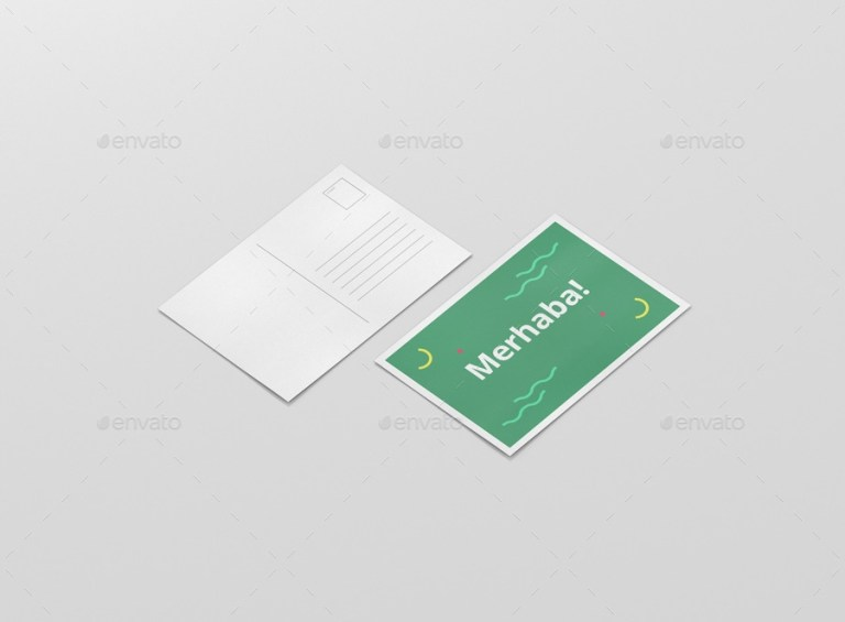 a6 postcard flyer mockup visconbiz graphicriver