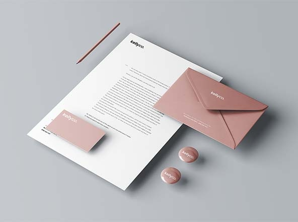 advanced stationery branding mockups