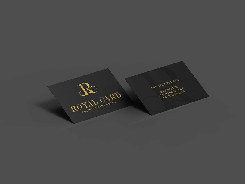 black business card mockups free psd template psd repo