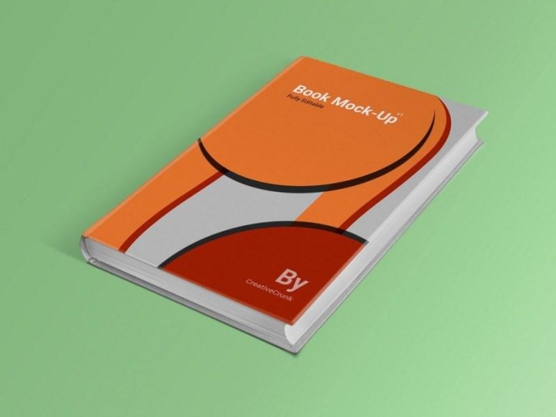 book cover mockupworld
