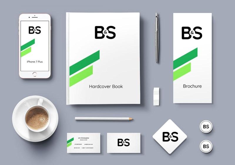 branding stationery psd mockup graphicsfuel