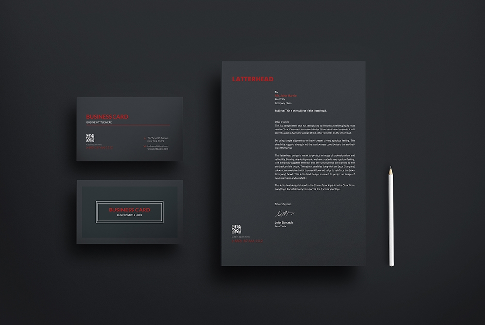 business card and letterhead mockup free psd download psd