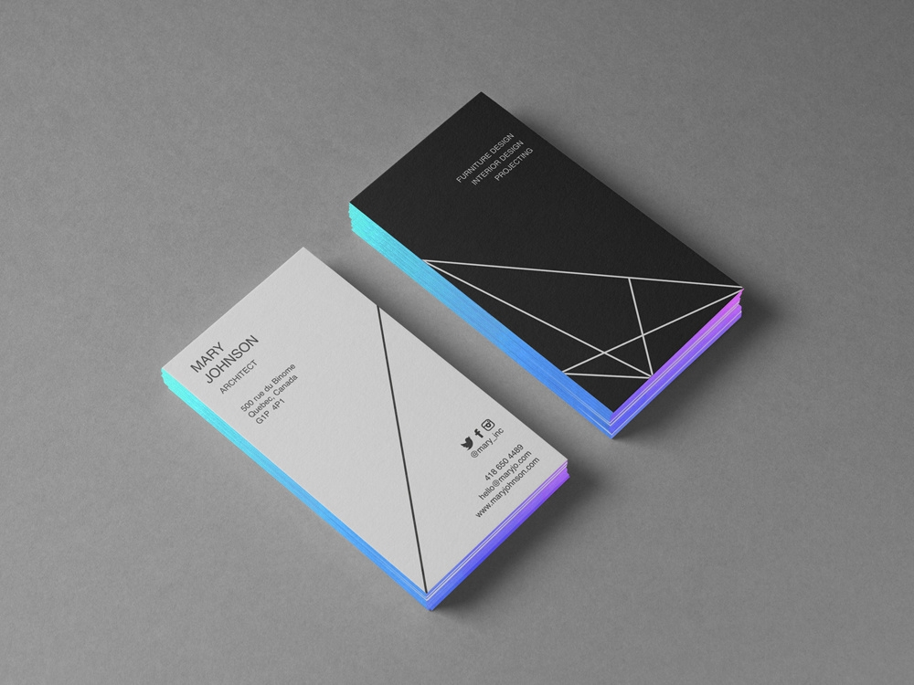 business card mockup clevery on dribbble