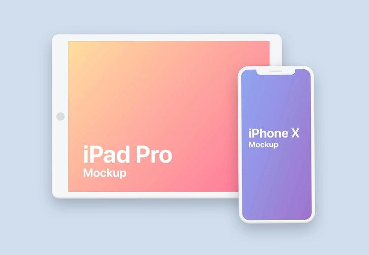 clay iphone ipad pro design mockup psd stash