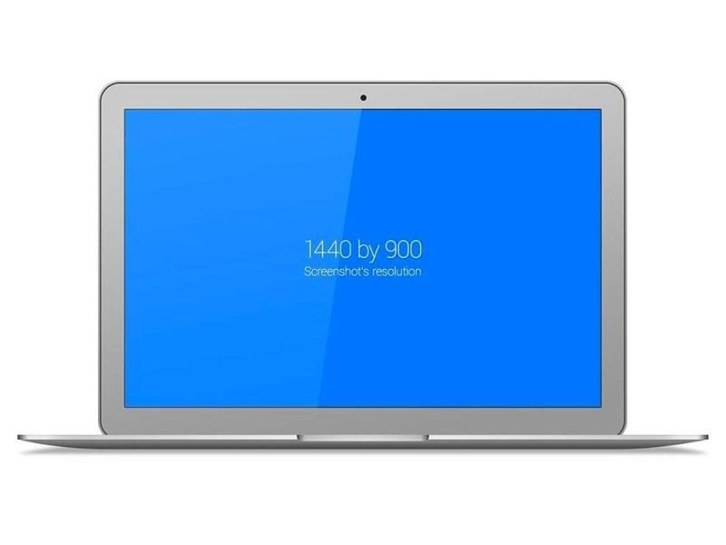 clean macbook air mockup mockupworld