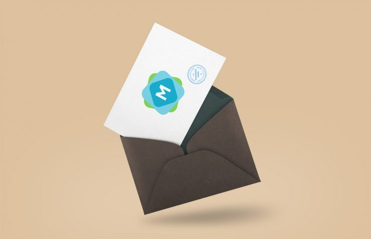 floating envelope postcard mockup mockup templates