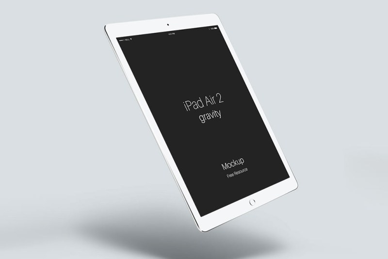 floating ipad air mockup mockupworld