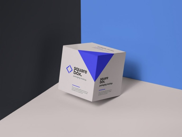 floating square box mockup mockupworld