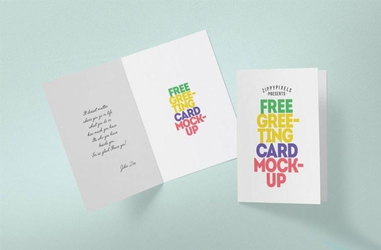 foldable greeting card mockup mockupworld