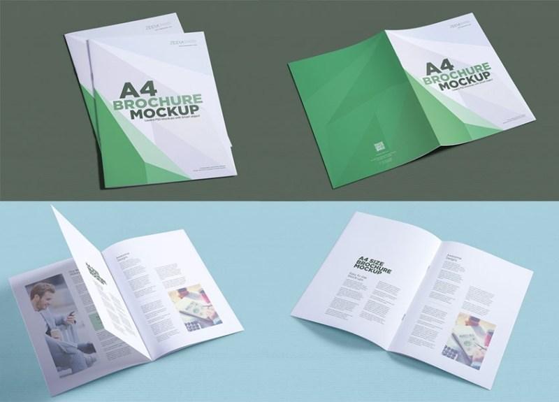 free a4 brochure mockups mockuptree