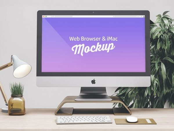 free apple imac mockup psd template 2019 dailymockup