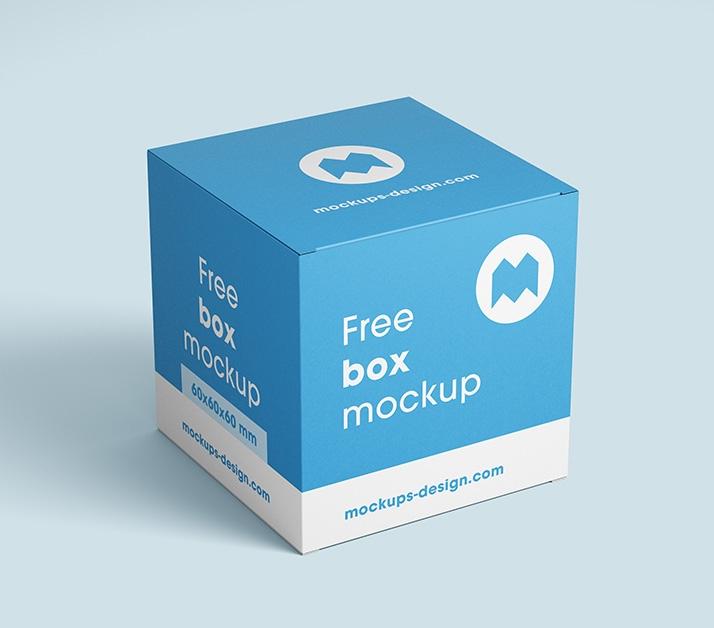 free box mockup 80x80x80 mm mockups design free premium mockups