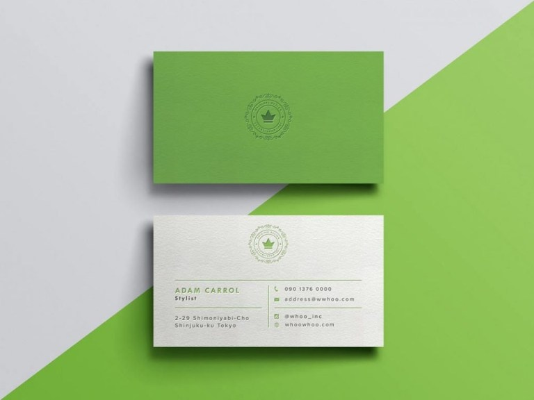 free business card mockup with paper texture daily mockup