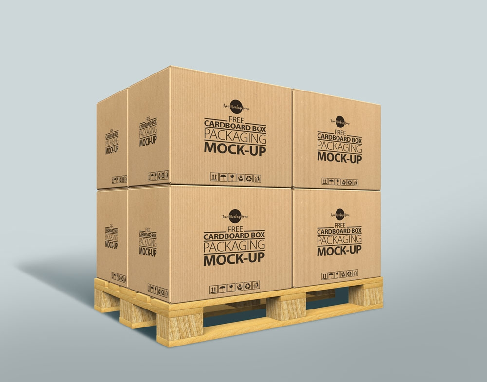 free cardboard box mockup psd for packaging 2019 pixlov