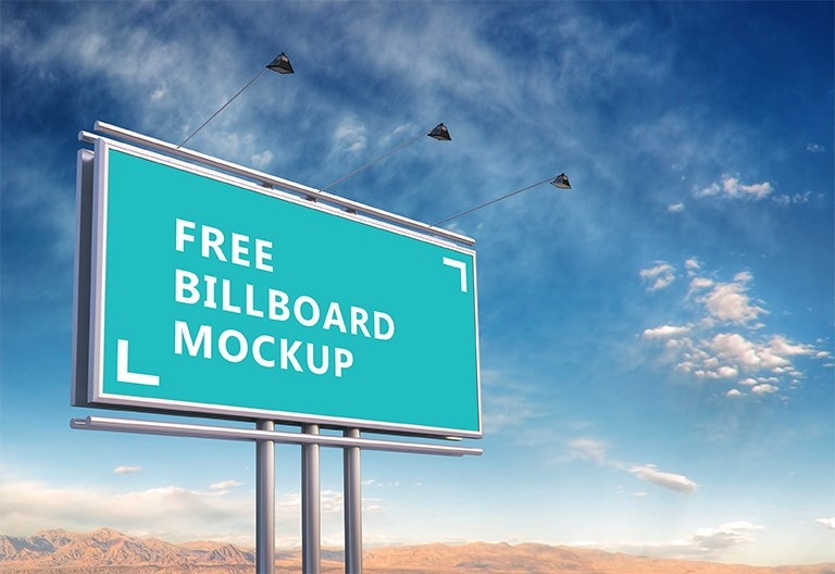 free green outdoor billboard mockup psd titanui