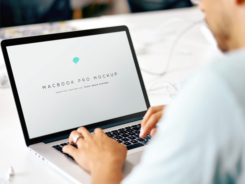 free macbook mockup psd brad neathery for right brain factory on