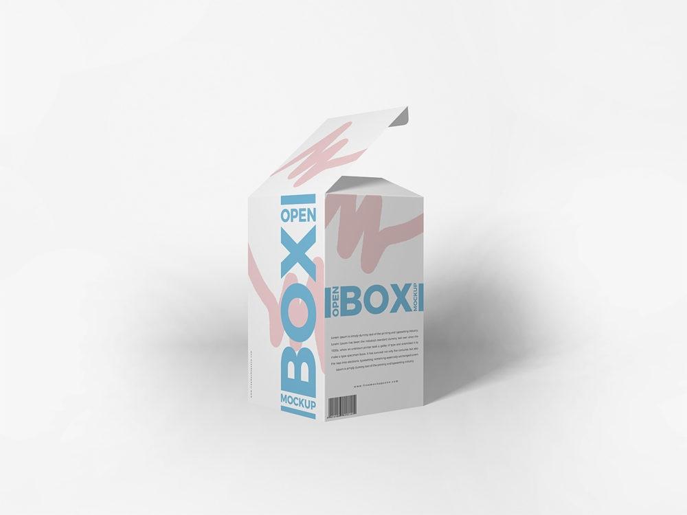 free packaging open box mockup free mockup