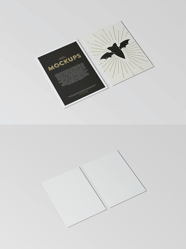 free postcard flyer mockup groupboard creatives shop owners