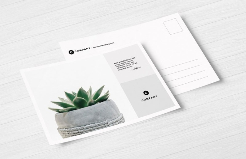 free postcard mockups css author