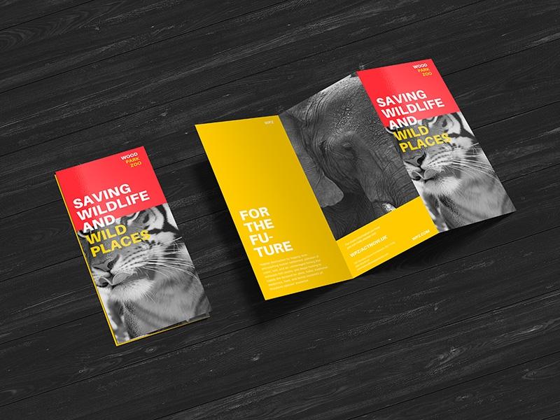 free premium z fold brochure mockup psd file