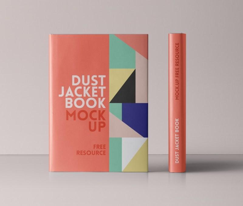free psd dust jacket book mockup mockuptree
