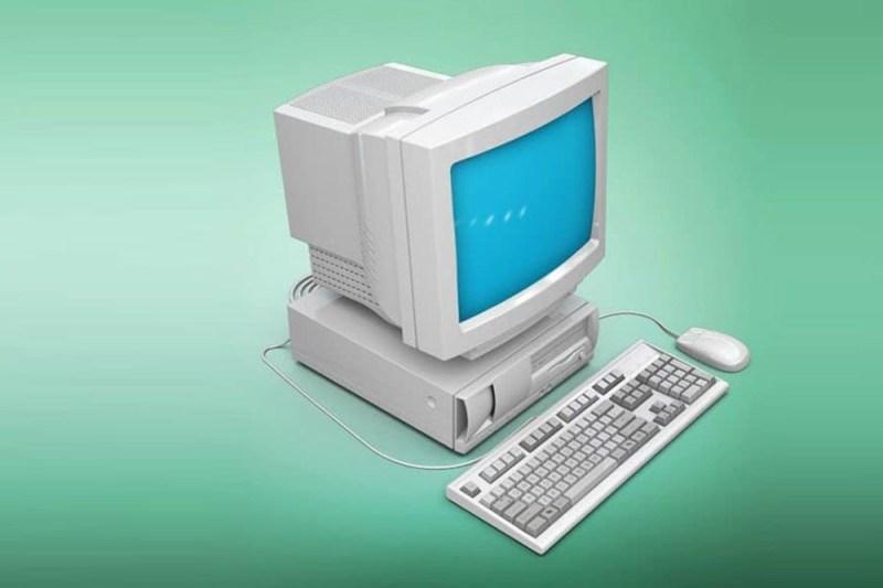 free realistic vintage computer mockup in psd mockups computer