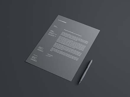 free simple letterhead mockup psd
