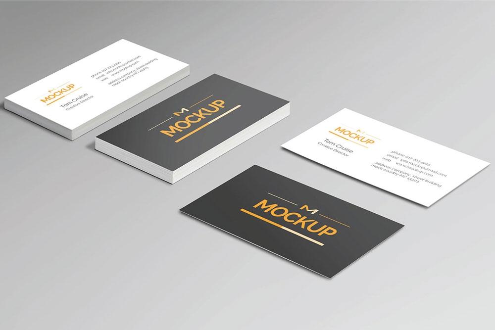 free style business card mockup mockuptree
