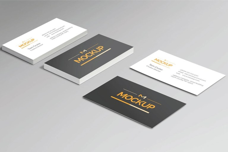 free style business card mockup mockuptree