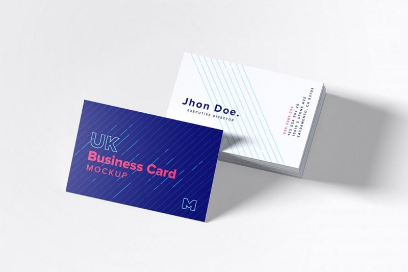 free uk business cards mockup mockuptree