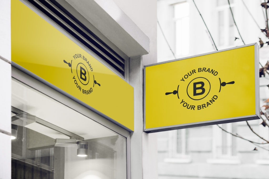 freebie 8 logo mockup templates on store fronts signage high res