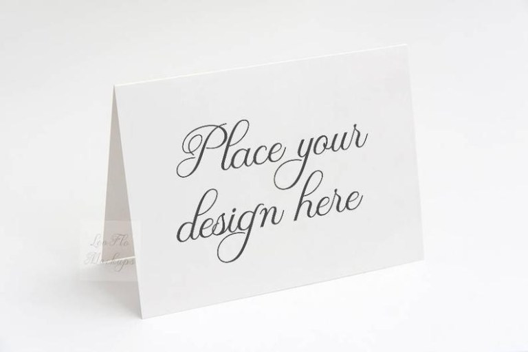 greeting card mockup invitation mockup 55 x 425 etsy