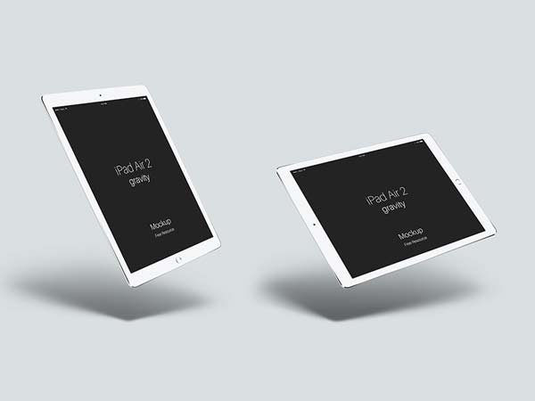 ipad air 2 gravity mockup designermill